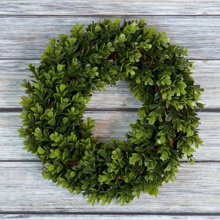 Pure Garden 12 Artificial Uv Resistant Boxwood Wreath For The Front Door Green