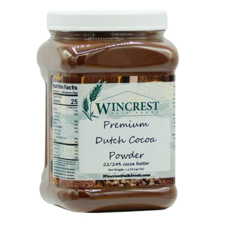 Premium High Fat Dutch Cocoa Powder - 2.5 Lb - Dutch Processed Cocoa