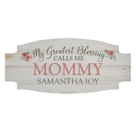 Personalized My Greatest Blessings Wood Sign - Single Child