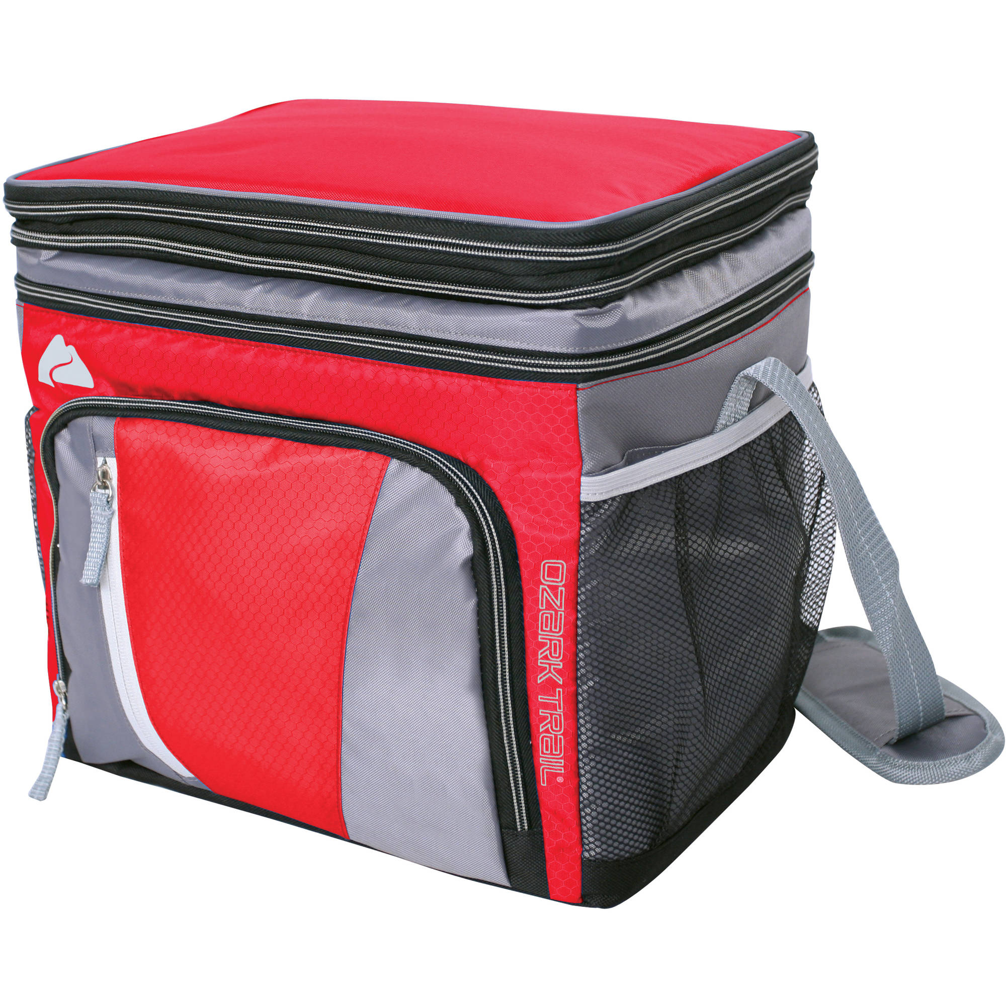 Ozark Trail 24-Can Cooler with Removable Hardliner, Red