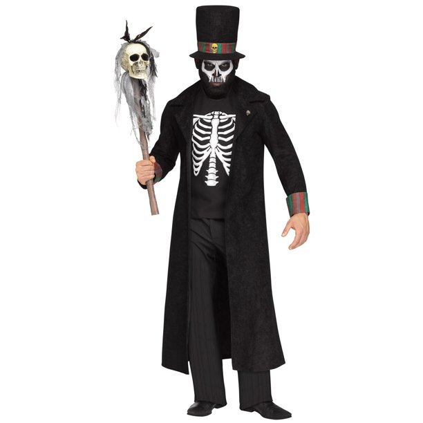 Voodoo King Skeleton Witch Doctor Mens Adult Costume Plus Size Walmart Com Walmart Com