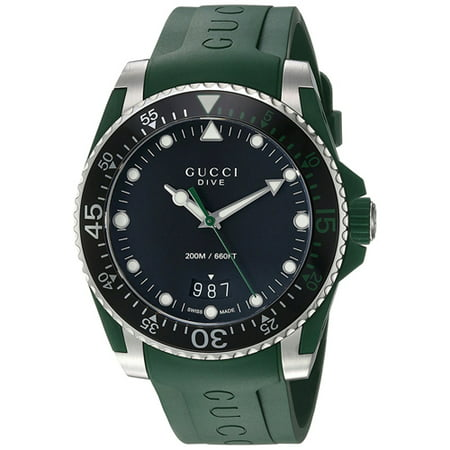Gucci Men's Dive Watch Quartz Sapphire Crystal YA136310