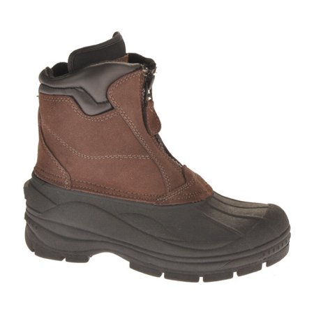 a665672bbc9 Totes Men's Glacier-Zip Brown Ankle-High Leather Boot - 10M