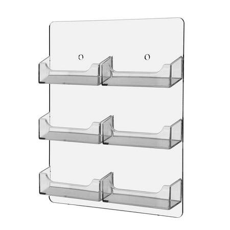 6 pocket wall mount business card holder six compartments for business cards six - Pocket Business Card Holder