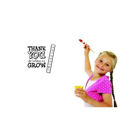 Wall Design Pieces Thank You For Helping Me Grow Daycare Preschool School Kids Playroom Boy Girl 12x12