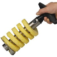 Stainless Steel Pineapple Corer Peeler Slicer Stem Remover - All in one Kitchen Gadget