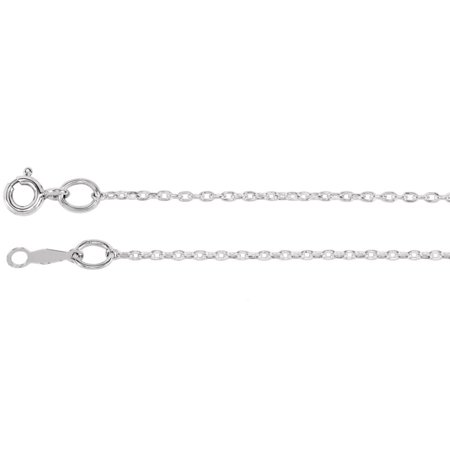 925 Sterling Silver 1 mm Cable Chain Necklace 14 inch