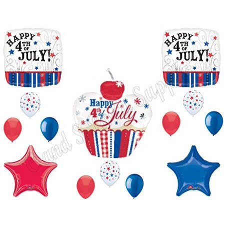 cupcake 4th of july balloons decoration supplies picnic cookout