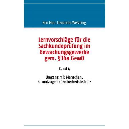 Lernvorschläge für die Sachkundeprüfung im Bewachungsgewerbe gem. §34a GewO - eBook