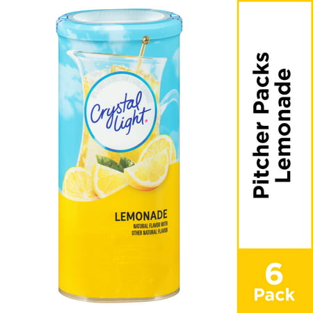 Crystal Light Lemonade Powdered Drink Mix, Caffeine Free, 3.2 oz Can