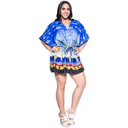 705c7fee827bb Caftan Cover ups Wrap Swimwear Dresses Beach Wear Bikini Resort Top M-4X -  Walmart.com