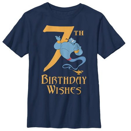 Aladdin Boys' Genie 7th Birthday Wishes T-Shirt