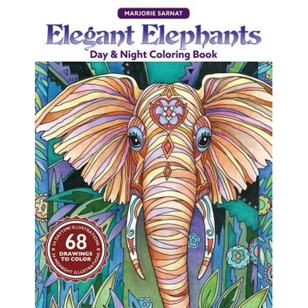 Day Elephant (Elegant Elephants Day & Night Coloring Book )