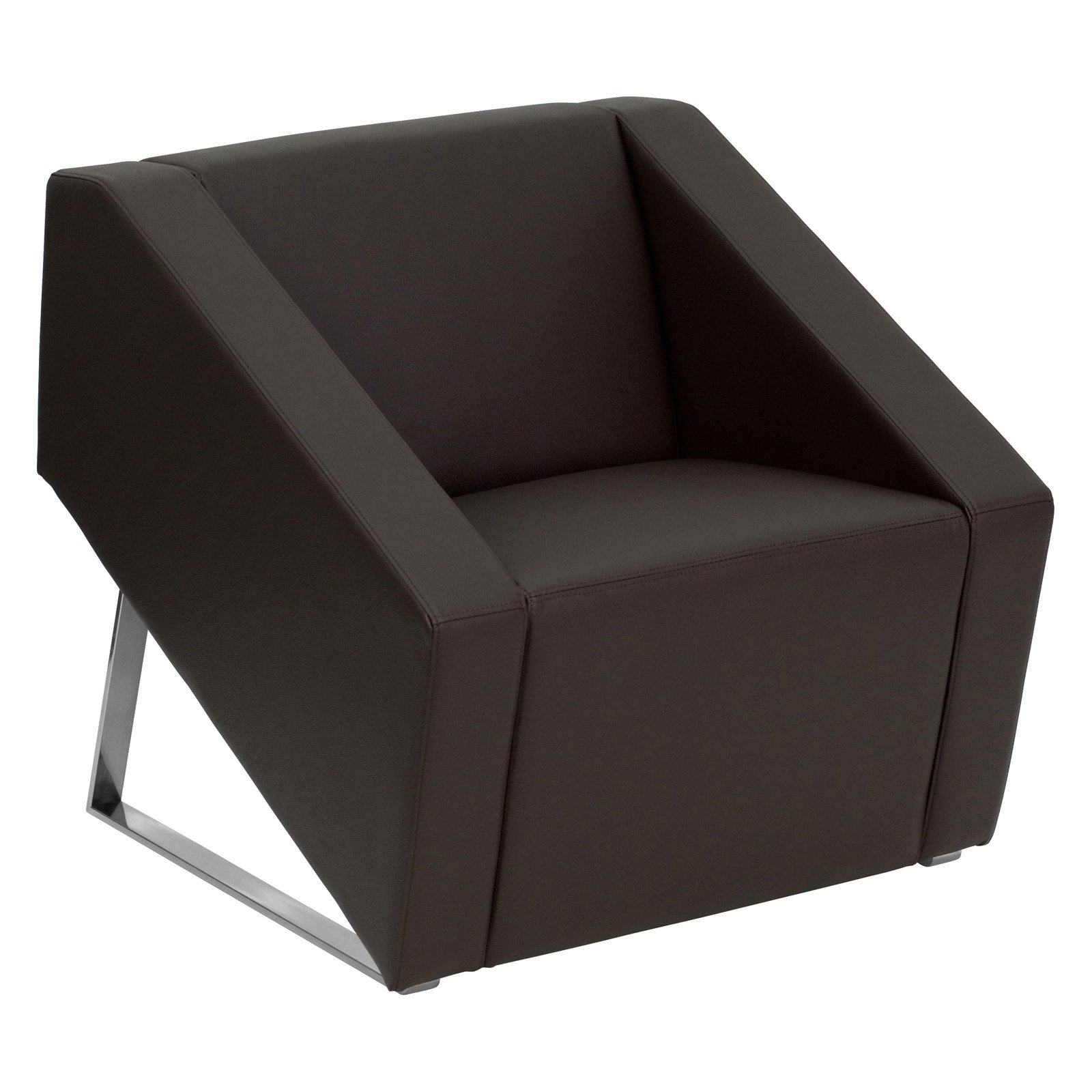 Flash Furniture Hercules Smart Series Leather Reception Waiting Room Chair