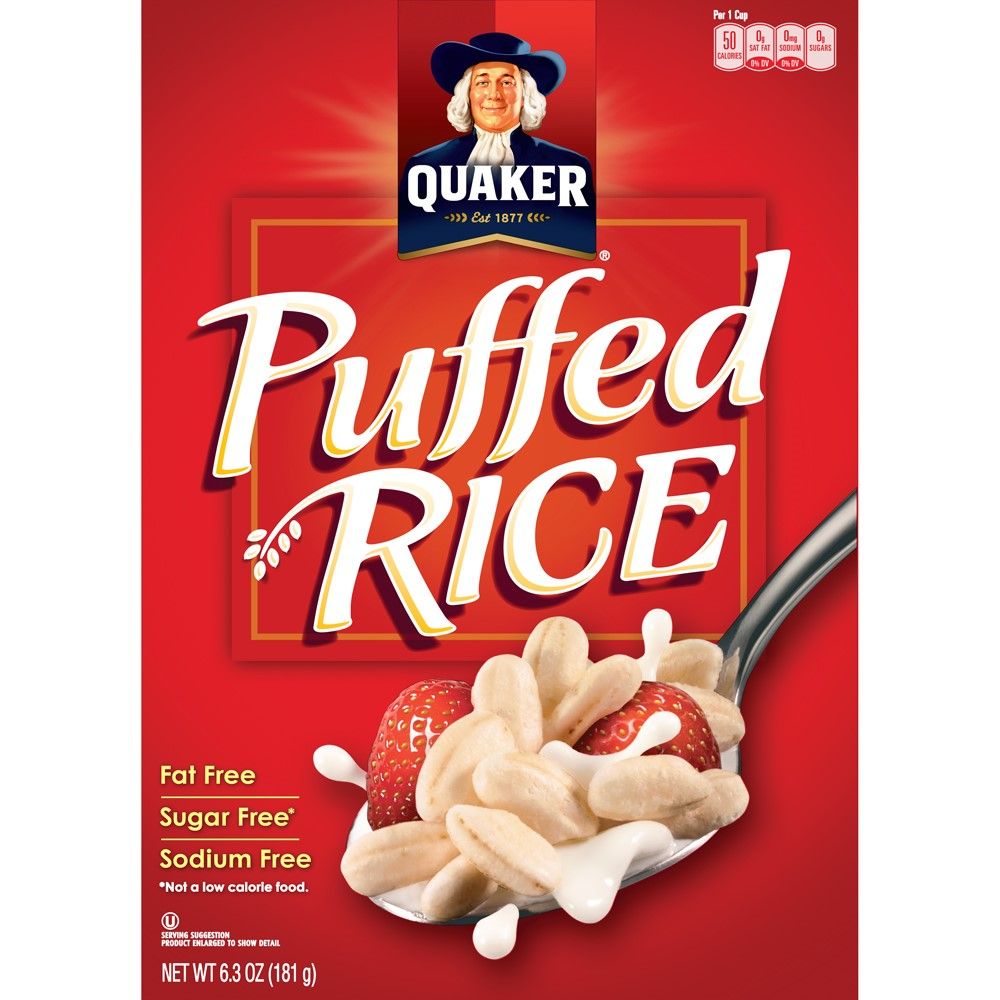 Quaker Puffed Rice Cereal, 6.3 Oz