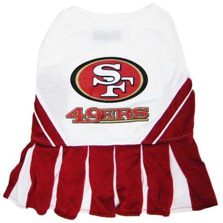 San Francisco 49ers Cheerleader Dog Dress - Medium - image 1 of 1