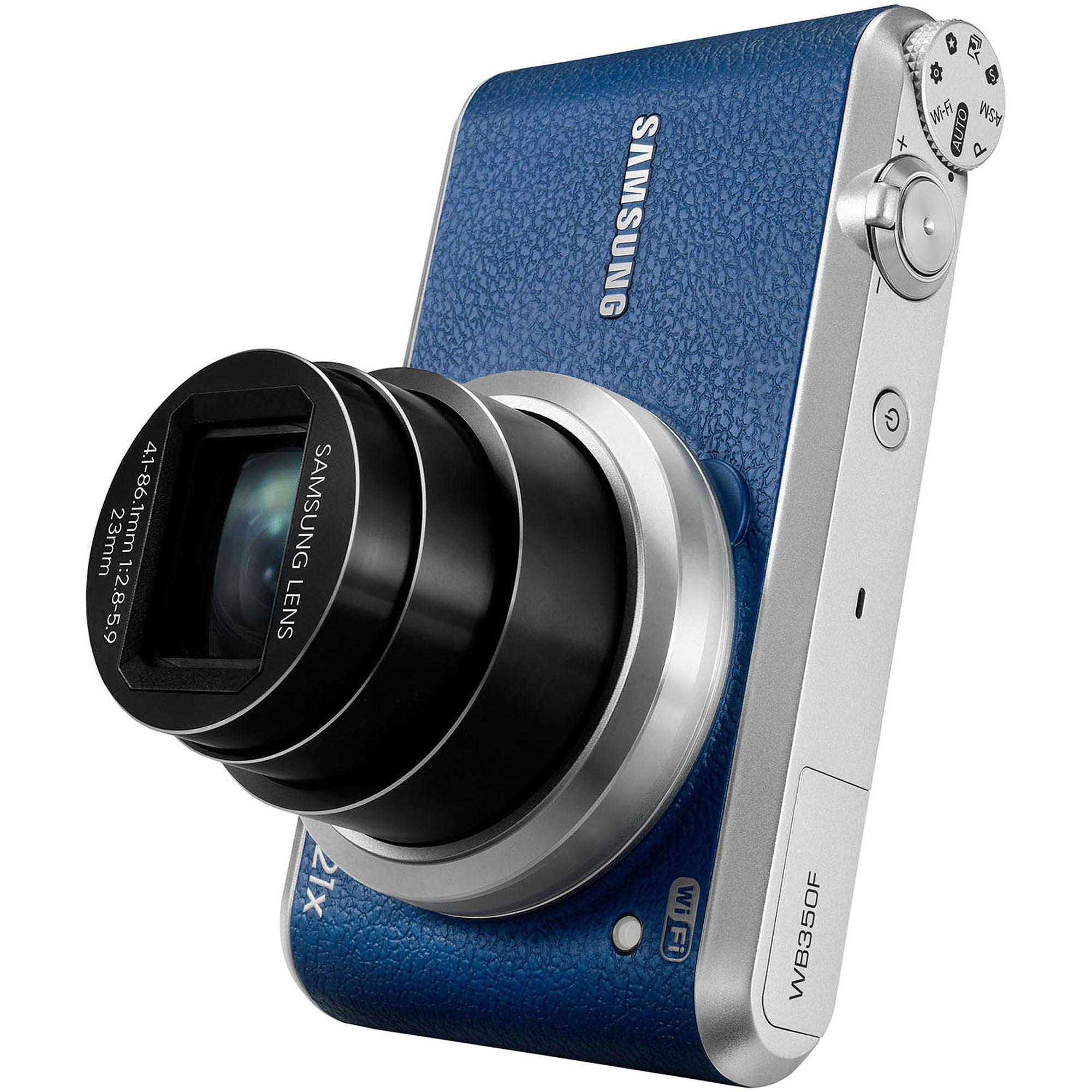 Samsung Blue WB350F Digital Camera with 16.3 Megapixels a...