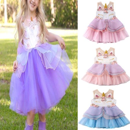 Girls Birthday Mesh Tutu Dress Hair Hoop Fairy Princess Wedding Party Kids Costume
