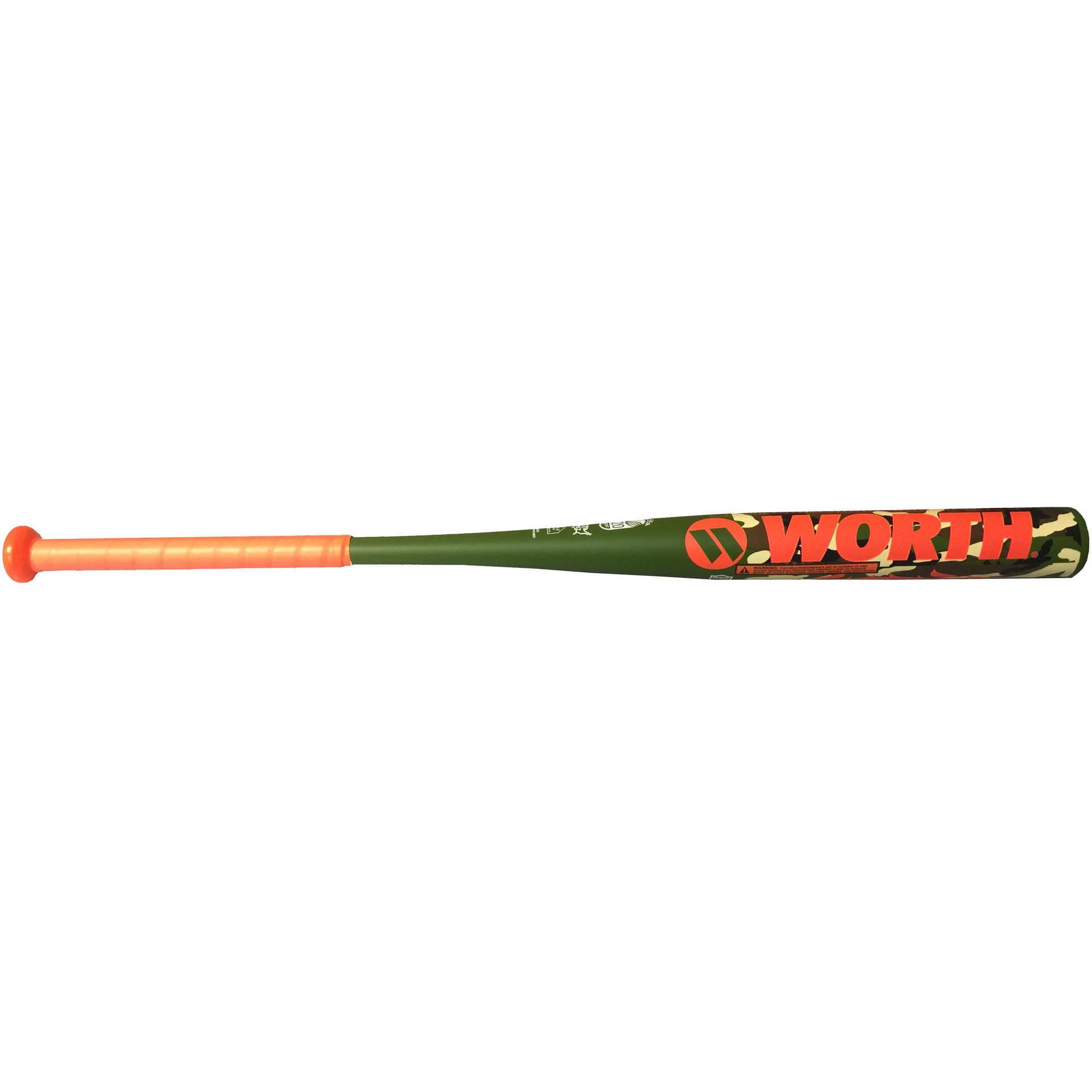worth amp camo slowpitch softball bat 34 26 5oz walmart