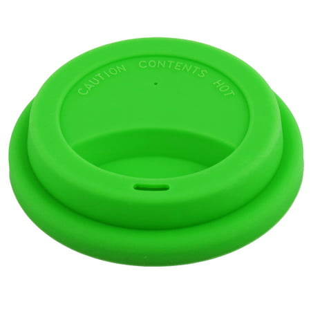 Reusable Green (Home Cafe Green Silicone Reusable Drinking Water Tea Coffee Mug Cup Lid Cover )