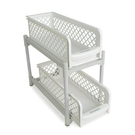 2 Tier Non-skid Basket Drawers - Easy Access, Organization, Storage](Two Tier Basket)