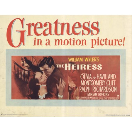 Image result for the heiress 1949 poster