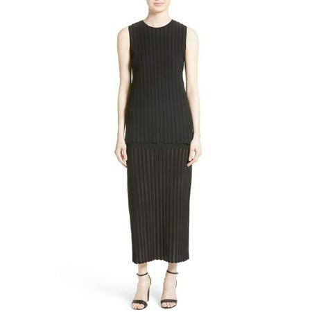 Diane von Furstenberg Tiered Knit Maxi Dress, Black,