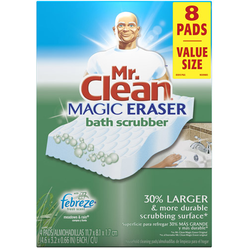 Mr. Clean Magic Eraser Meadows U0026 Rains Scent Bath Scrubber, ...
