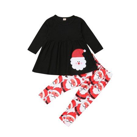 Kids Online Boutiques (Hot Boutique Kids Baby Girls Outfit Christmas T-Shirt Tutu Top+Legging Pants Clothes)