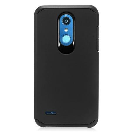 Compatible LG Rebel 4 | Rebel 3 Case Dual Layer Fusion Hybrid Phone Cover (Black/Black)