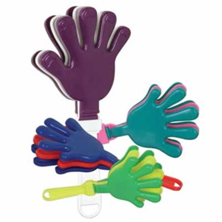 Beistle - 60928 - Hand Clappers- Pack of 12 (Light Clappers)