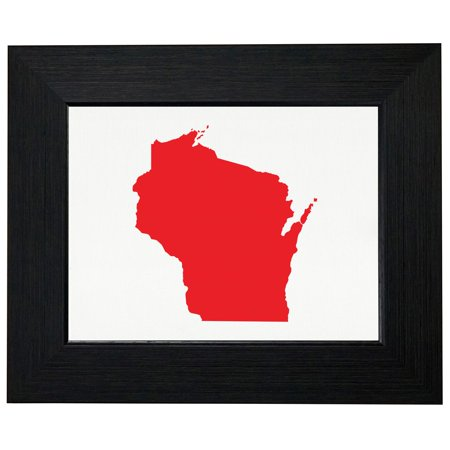 Wisconsin Red Republican   Election Silhouette Framed Print Poster Wall Or Desk Mount Options