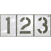 CH HANSON 70358 Stencil, Number Kit, 12pcs., 12 x 9 In.