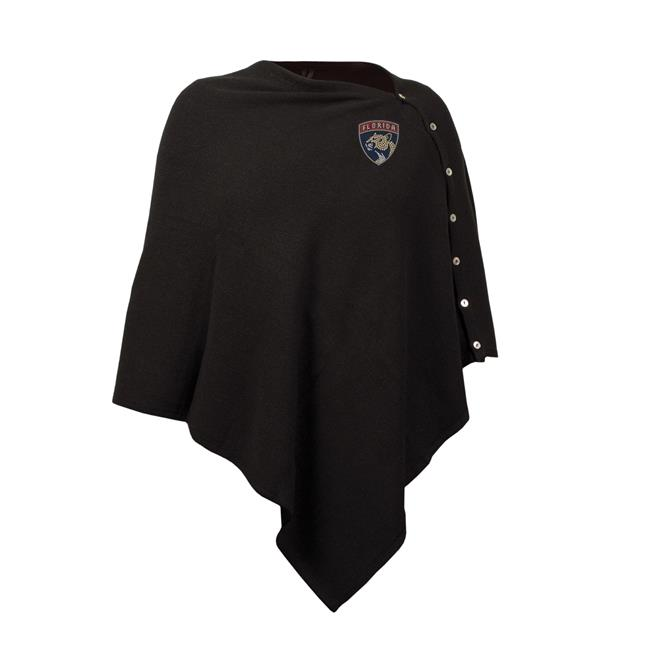 Little Earth 500653-PNTR NHL Florida Panthers Black Out Button Poncho by Little Earth