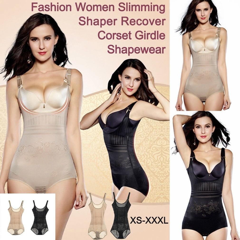 Full Body Shapewear Waist Trainer Lady Bodysuit Shaper Underbust Corset Cincher