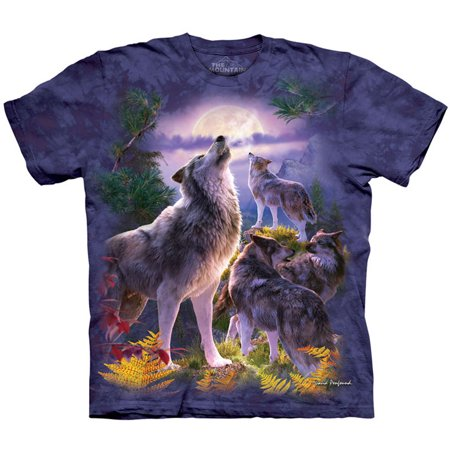 The Mountain Mens  Wolfpack Moon T Shirt Blue