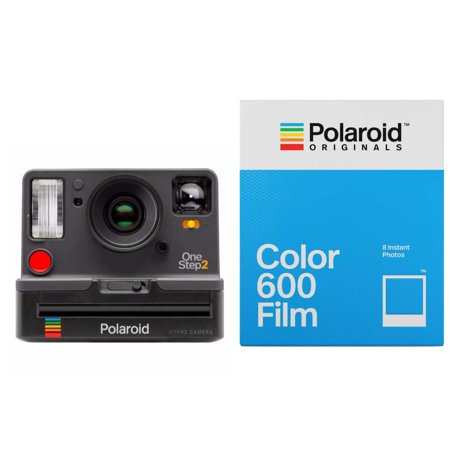 Polaroid Originals OneStep2 Viewfinder i-Type Instant Film Camera (Graphite Gray) + Classic Color 600 Instant Camera Film (8 Exposures)