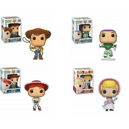 Funko Pop! Toy Story 4 Pop! Vinyl Figure SET: Woody, Buzz, Jessie, and Bo Peep](Woody And Jessie)