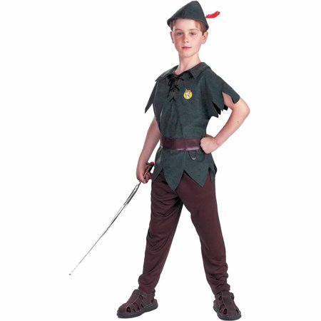 Peter pan disney child halloween costume Child Boys (7-8) - Peter Pan Plus Size Halloween Costumes