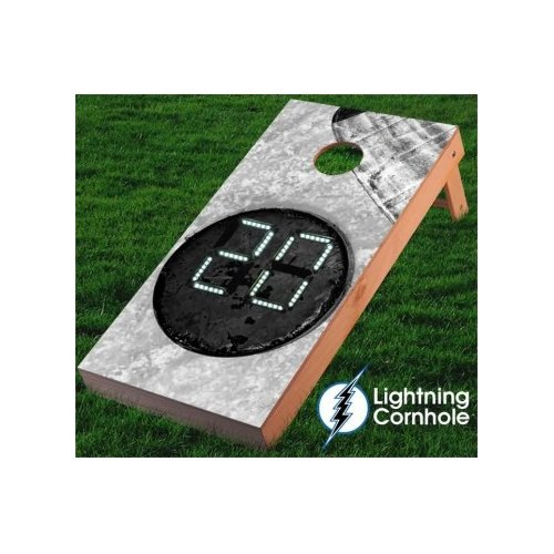Lightning Cornhole Electronic Scoring Hockey Puck Cornhole Board by