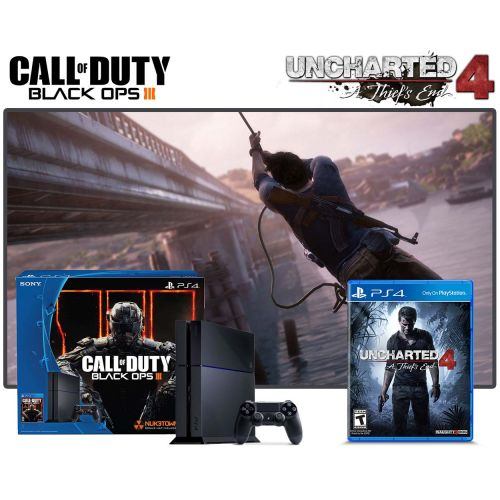 PS4 500GB COD BLACK OPS III + UNCHARTED 4: A THIEF'S END
