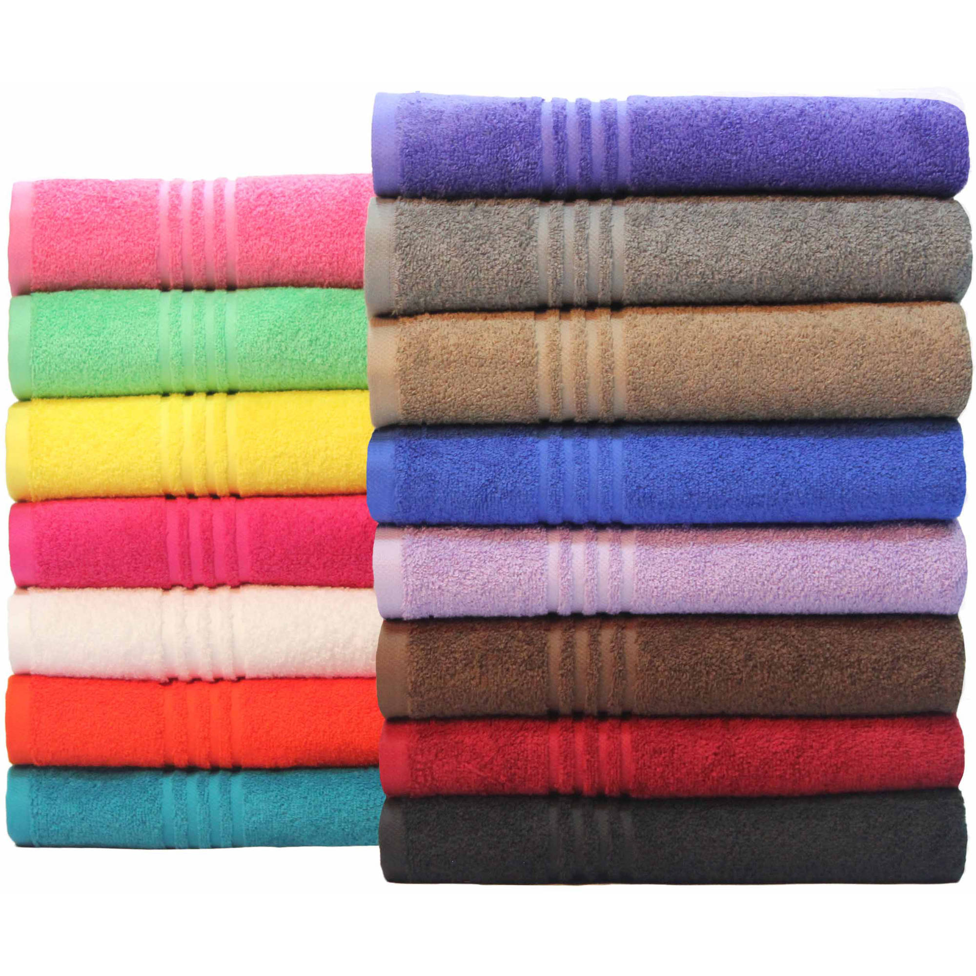 Mainstays Essential True Colors Bath Towel Collection Walmartcom