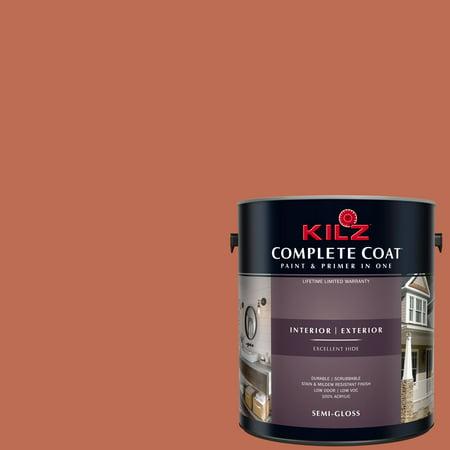 KILZ COMPLETE COAT Interior/Exterior Paint & Primer in One #LB120-01 Lobster