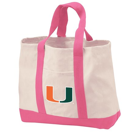 University Of Miami Tote Bag Canvas Bags For Travel Beach Ping