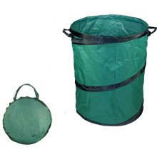 Collapsible Leaf Trash Garbage Garden Storage Container Can Bag Stand Holder