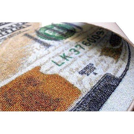 Ottomanson New Rugs One Hundred Dollar 100 Bill Print Benjamin Non Slip