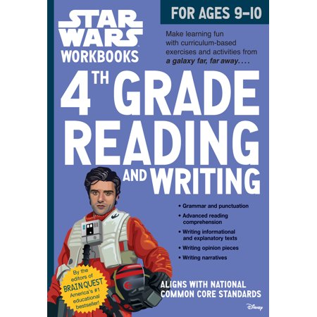 Star Wars Workbook: 4th Grade Reading and Writing - Paperback - Halloween Color By Number 4th Grade