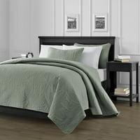 Chezmoi Collection Austin 3-Piece Oversized Bedspread Coverlet Set