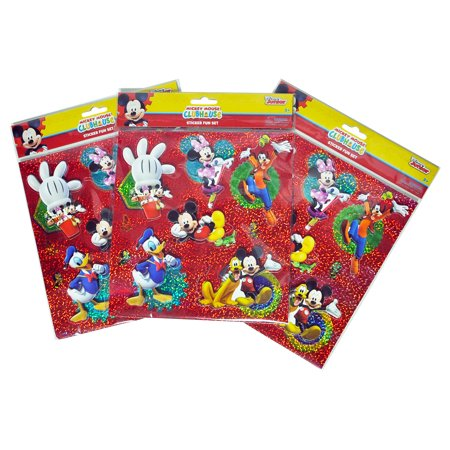 Mickey Mouse Clubhouse Kids 3D Sticker Sheets 3-PACK (18-CT) - Mickey Stickers