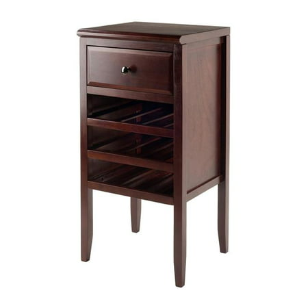 17.72 x 16.34 x 35.43 in. Orleans Modular Buffet with Drawer & 12 - Bottle Wine Rack, Cappuccino - Orleans Buffet